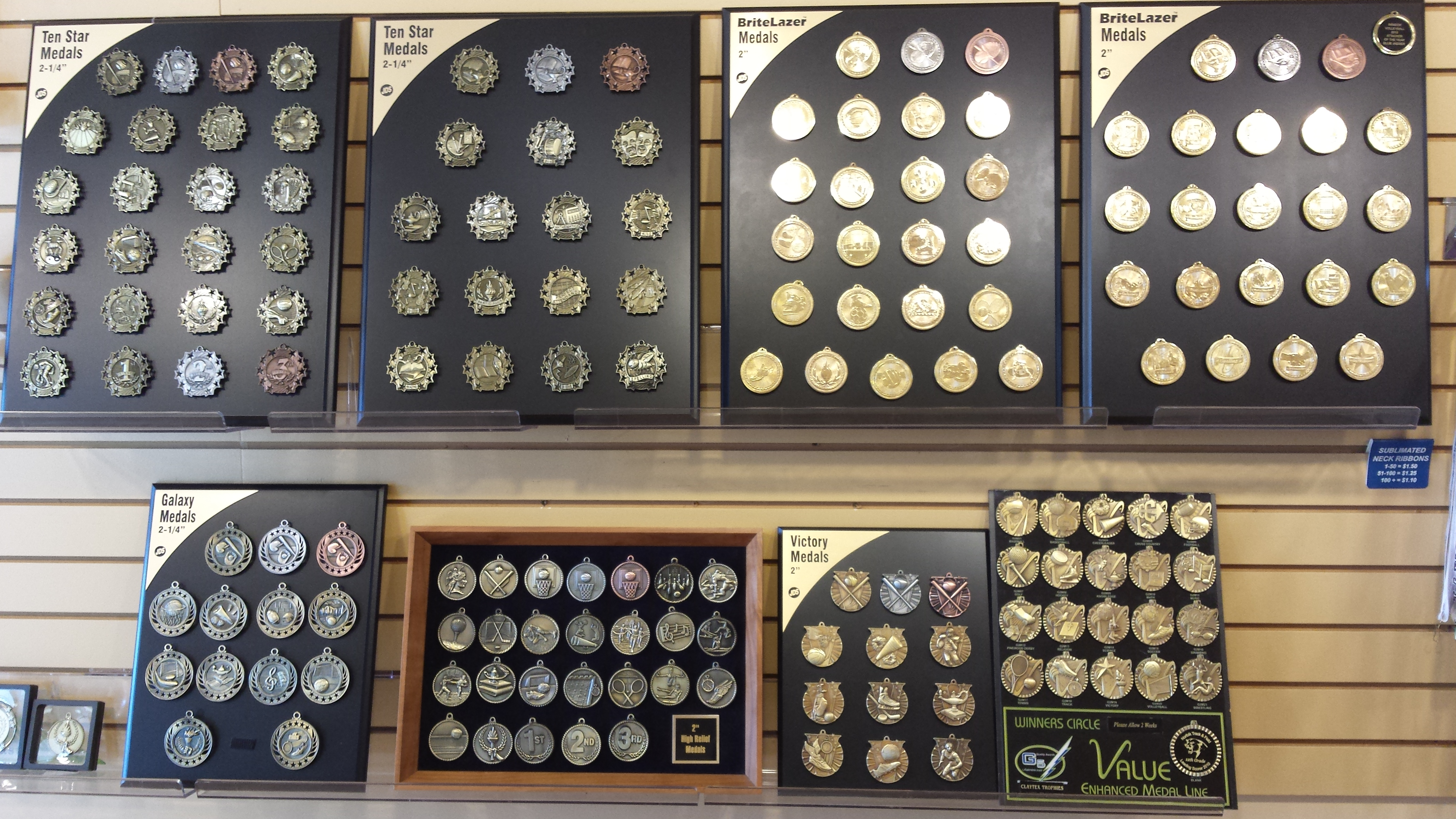 Medals and Neck Ribbons – Winners' Circle of Norfolk