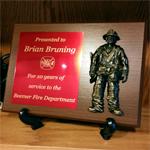 Fireman Service Plaque